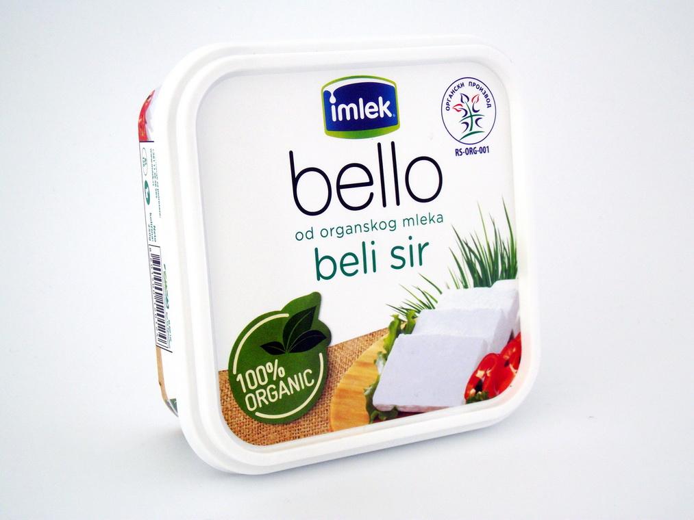 Beli sir od organskog mleka 250gr
