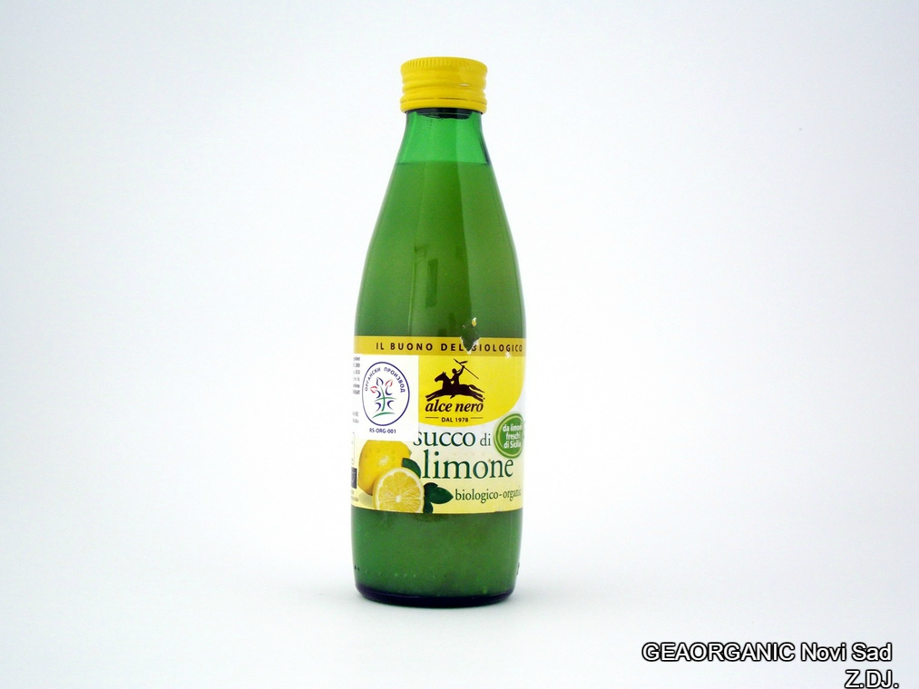 Succo di Limone Biologico 250ml