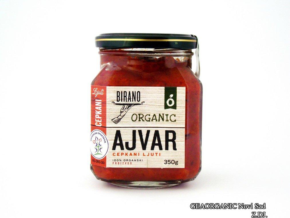 Ajvar cepkani ljuti organic 350 gr