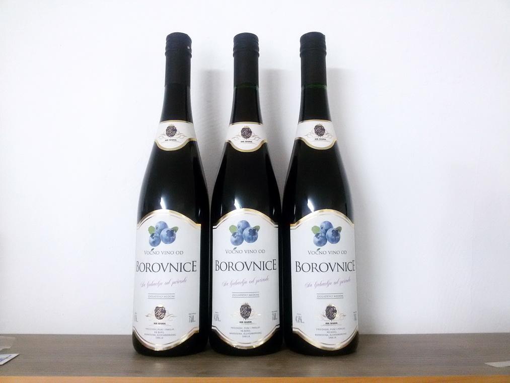 Voćno vino od borovnice 0,75l